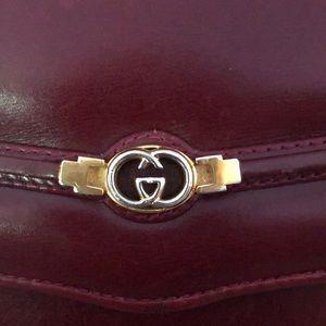 Gucci Authentic Vintage Clutch and burgundy Pumps
